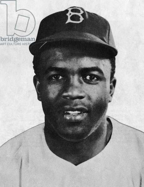 JACKIE ROBINSON (1919-1972) John Roosevelt Robinson, known as Jackie. American baseball player. Photograph, c.1951.