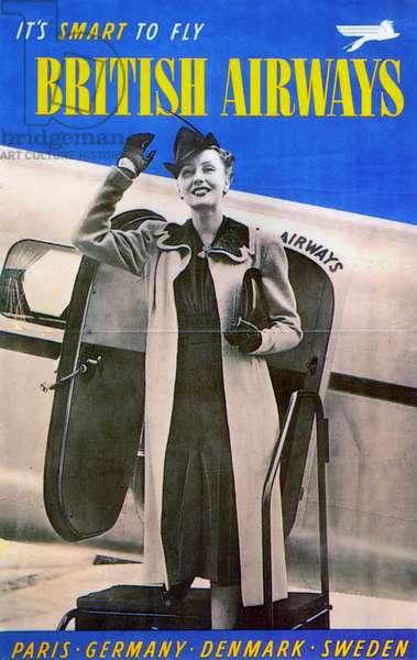 BRITISH AIRWAYS, 1938 A British Airways poster from 1938.