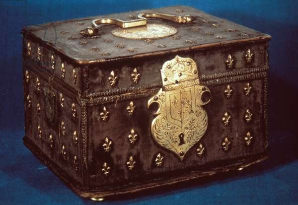 MARY STUART CASKET Wooden jewel casket of Mary Stuart, Queen of Scots.