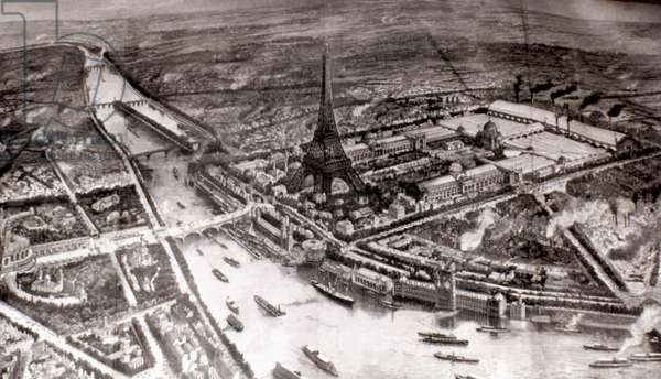 PARIS EXPOSITION, 1889 General view of the Universal Exposition of 1889. Contemporary French engraving.