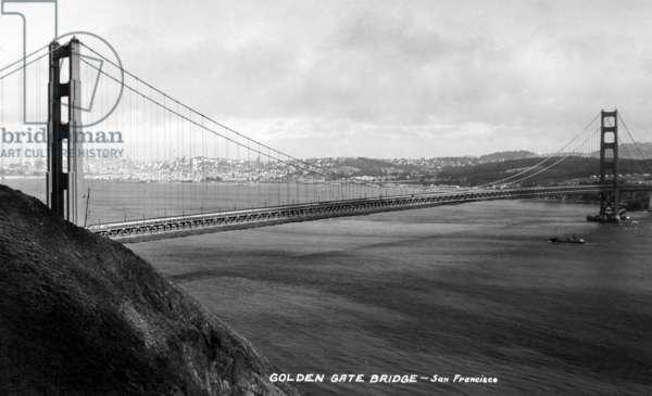 GOLDEN GATE BRIDGE San Francisco, California. Photographed in 1937.