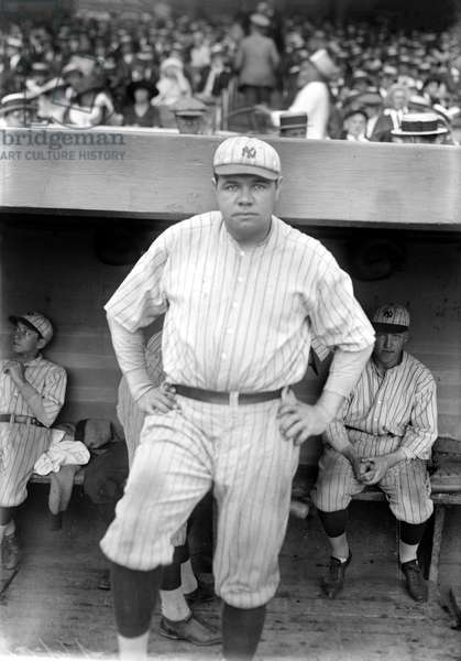 GEORGE H. RUTH (1895-1948) Known as Babe Ruth. American professional baseball player. Photographed while playing with the New York Yankees, 1921.