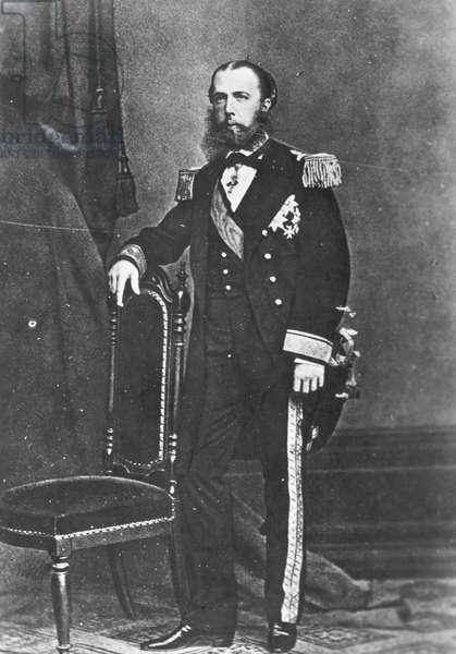 EMPEROR MAXIMILIAN (1832-1867). Archduke of Austria and Emperor of Mexico, 1864-67. Photographed c.1865.