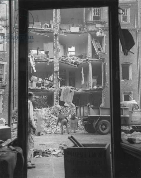 WWII: LONDON BLITZ, 1944 A street scene in London after a V-2 explosion, 1944.