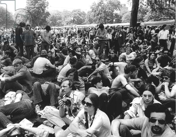 ANTI-WAR PROTEST, 1970 Thousands of young people demonstrate in Washington, D.C., on 9 May 1970, to protest the Vietnam War, the U.S. incursion into Cambodia, and the Kent State killings.