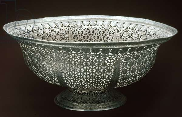 INDIA: DECORATIVE BOWL Decorative silver bowl, from India.