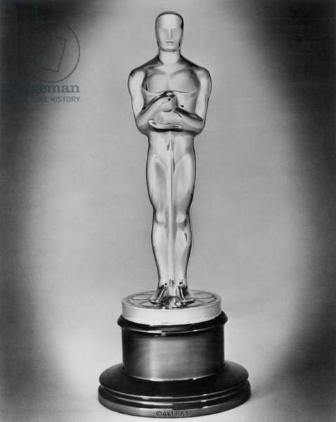 FILMS: OSCAR, 20th C The 'Oscar' statuette annually by the American Academy of Motion Picture Arts and Sciences.