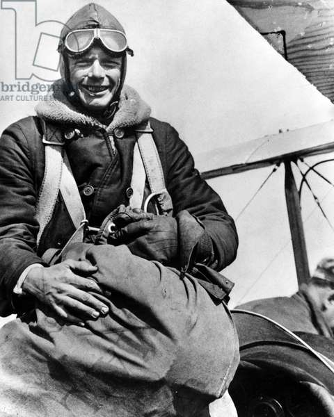 CHARLES LINDBERGH (1902-1974). American aviator. Photograph, c.1927.