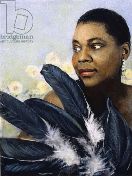 BESSIE SMITH (1894-1937) American singer and songwriter. Oil over a photograph, by Carl Van Vechten, 1936.