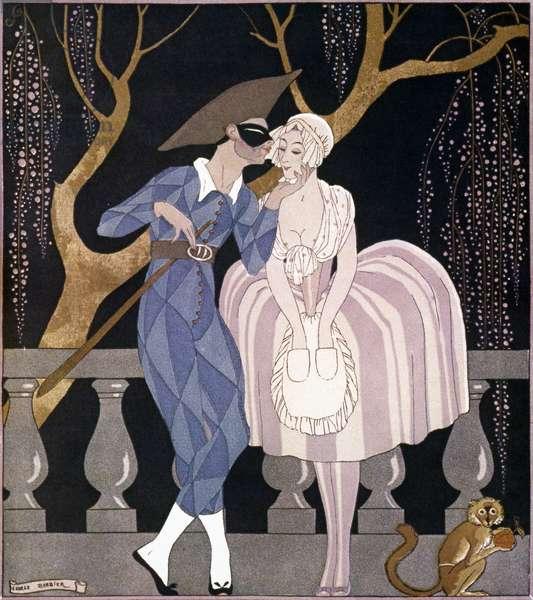 BARBIER: ARTFUL SERVANT George Barbier: The Artful Servant Girl. Illustration, 1922.