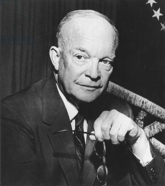 DWIGHT D. EISENHOWER (1890-1969). 34th President of the United States. Photographed in 1953.