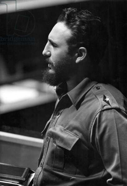 FIDEL CASTRO (1926-) Cuban revolutionary leader.