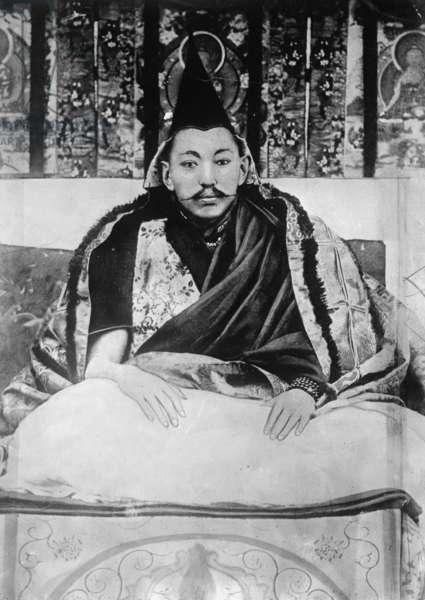 DALAI LAMA (1876-1933) The 13th Dalai Lama, Thubten Gyatso. Photograph, c.1905.