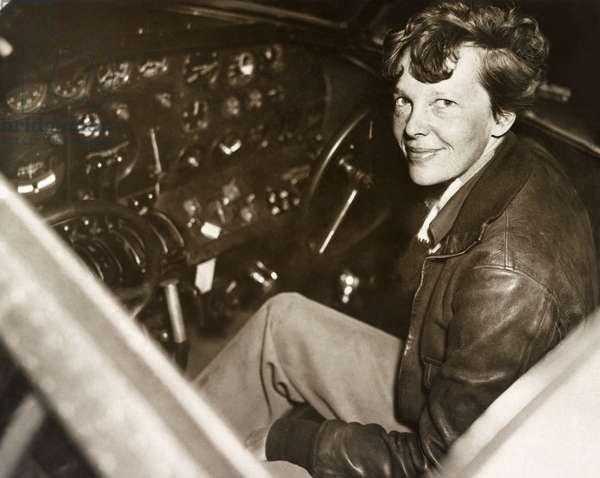 AMELIA EARHART (1897-1937) American aviator. Photograph, c.1935.