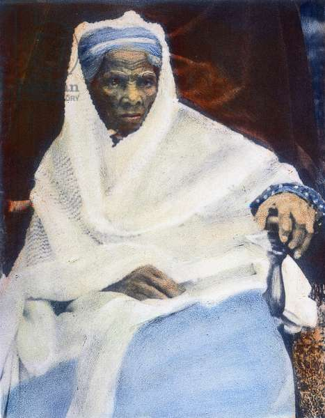 HARRIET TUBMAN ( c.1820-1913) Oil over a photograph, c.1912.