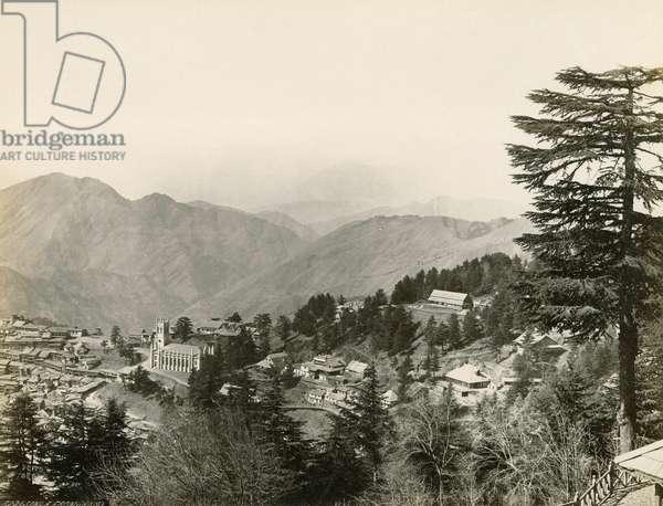 INDIA: SHIMLA A view of Shimla, India. Photograph by Francis Frith, c.1860.