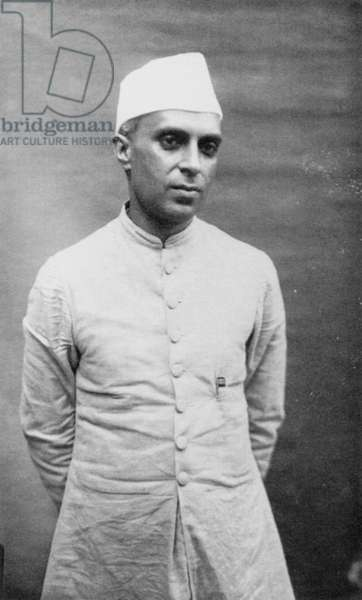 JAWAHARLAL NEHRU (1889-1964). Indian political leader. Photographed in the 1920s by Narayan Vinayak Virkar.