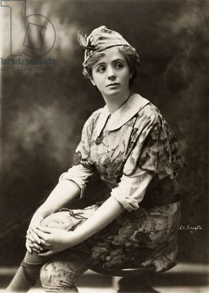 MAUDE ADAMS (1872-1953) American actress. Photographed in the role of Peter Pan, 1906.