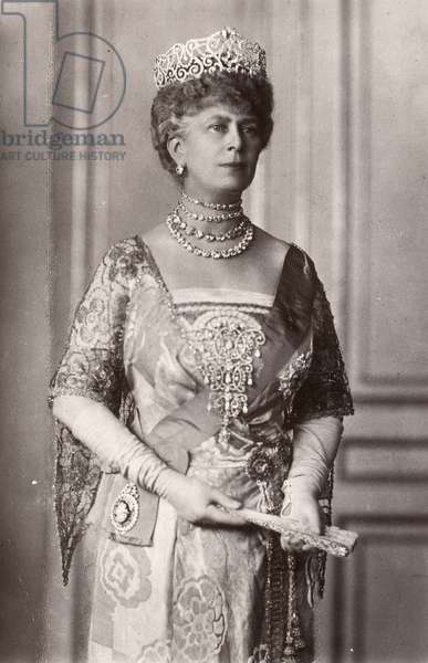 QUEEN MARY (1867-1953) Victoria Mary of Teck, Queen consort of King George V of Great Britain. Photograph, 1917.