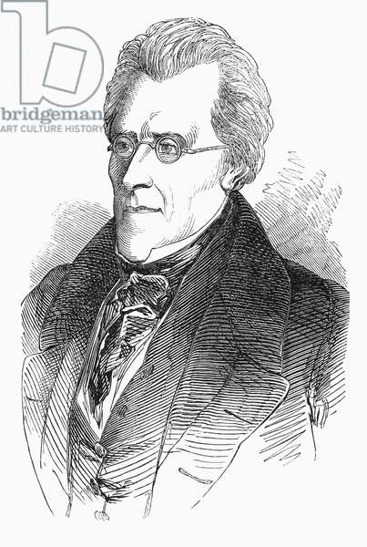 ANDREW JACKSON (1767-1845) Seventh President of the United States. Wood engraving, 19th century.