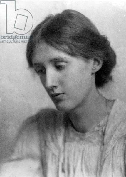 VIRGINIA WOOLF (1882-1941) English writer; photographed in July 1902 by George Charles Beresford.