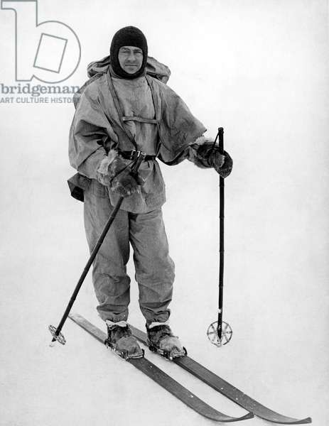 ROBERT FALCON SCOTT (1868-1912).English Antarctic explorer. Scott near the South Pole in 1912.