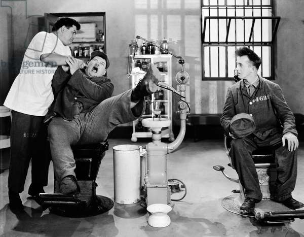 LAUREL AND HARDY Luarel and Hardy in 'Pardon Us,' 1931.