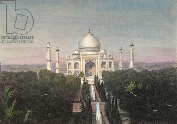 TAJ MAHAL OF INDIA. Steel engraving, 19th century.