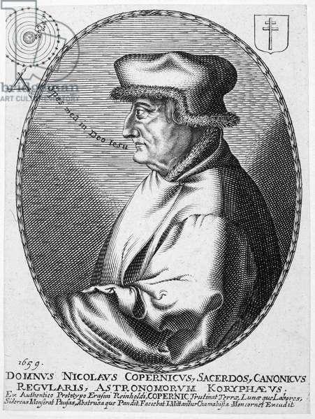 NICOLAUS COPERNICUS (1473-1543). Polish astronomer. Copper engraving, 17th century.