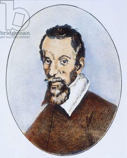 CLAUDIO MONTEVERDI (1567-1643). Italian composer. Line engraving.