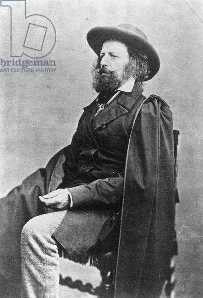 ALFRED TENNYSON (1809-1892). English Baron and poet. Photographed by James Mudd, c.1852-60.