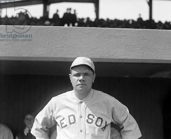 GEORGE H. RUTH (1895-1948) Known as Babe Ruth. American professional baseball player. Photographed while playing for the Boston Red Sox, 1919.