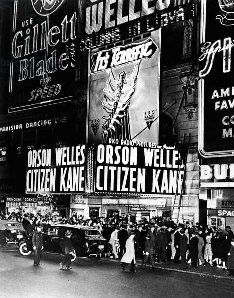 NEW YORK: RKO PALACE, 1941 The world premiere of Orson Welles' film 'Citizen Kane' at the RKO Palace on Times Square, New York City, 1941.