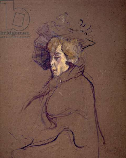 TOULOUSE-LAUTREC: J. AVRIL. Cardboard on wood, 1892.