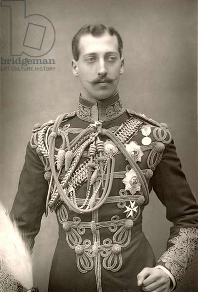 PRINCE ALBERT VICTOR (1864-1892). Duke of Clarence and Avondale. Eldest son of King Edward VII of England. Suspected by some to be the serial killer known as Jack the Ripper. Photographed in 1890.