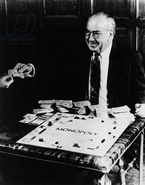CHARLES DARROW (1889-1967) Credited with inventing the 'Monopoly' board game. Undated photograph.