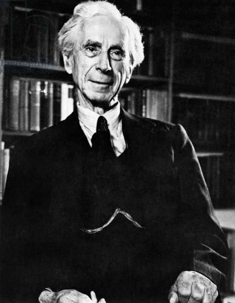 BERTRAND RUSSELL (1872-1970) 3rd Earl Russell. English mathematician and philosopher. Photographed in his home at Richmond, England, 1952.