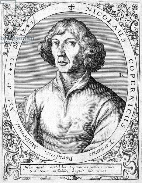 NICOLAUS COPERNICUS (1473-1543). Polish astronomer. Line engraving, 16th century.