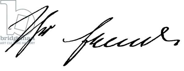 SIGMUND FREUD (1856-1939) Austrian neurologist. Autograph signature.