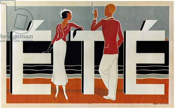 POSTER: SUMMER, c.1925 Lithograph by Caddy, c.1925.