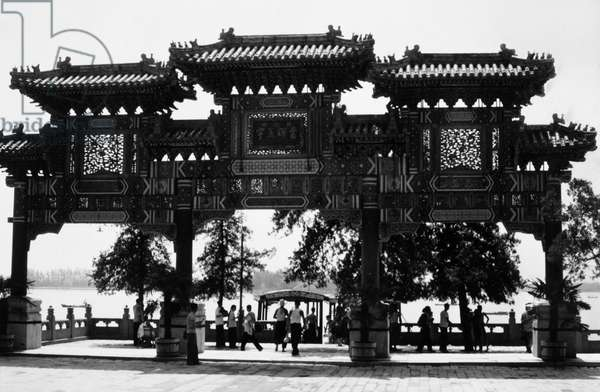 PEKING: SUMMER PALACE An archway at the Summer Palace in Peking, China. Photographed c.1970.