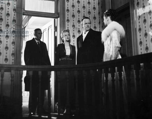 FILM: CITIZEN KANE, 1941 Ray Collins, Dorothy Comingore, Orson Welles and Ruth Warrick in a scene from the 1941 motion picture 'Citizen Kane.'