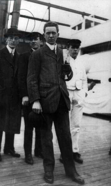TITANIC: SURVIVOR, 1912 Sidney Stuart Collett, a survivor of RMS 'Titanic,' aboard the rescue ship RMS 'Carpathia.' Photographed 13 April 1912.
