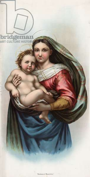 RAPHAEL: MADONNA 'Raphael's Madonna.' Lithograph produced by soap company B.T. Babbitt as a promotional card, 1898.