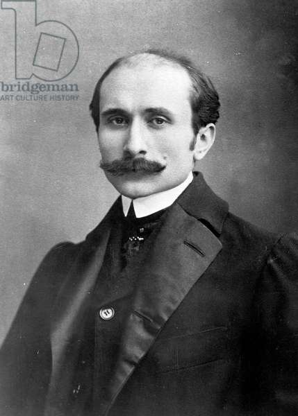 EDMOND ROSTAND (1868-1918) French poet and playwright.