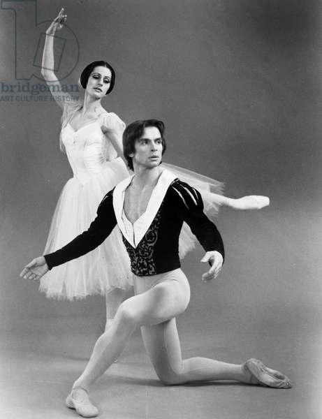 RUDOLF NUREYEV (1938-1993) Russian ballet dancer. With Veronica Tennant in a National Ballet of Canada production of 'Giselle.'