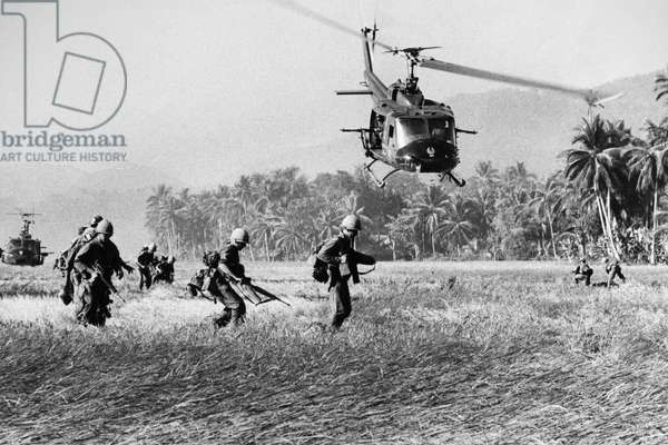 VIETNAM WAR: HELICOPTER American soldiers and helicopters in action in South Vietnam.