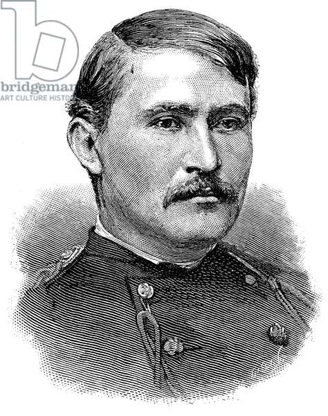 FREDERIC DENT GRANT (1850-1912) American soldier, son of President Ulysses S. Grant. Wood engraving, 1885.