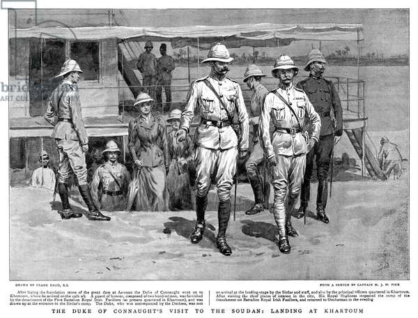 ARTHUR, DUKE OF CONNAUGHT (1850-1942). British prince and soldier. Landing at Khartoum, Sudan. Illustration, 1899.