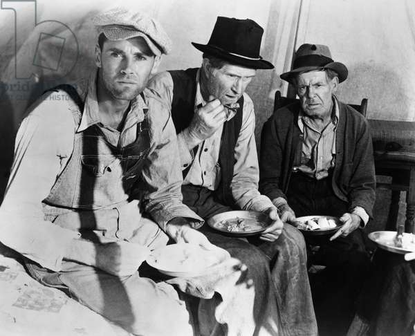 GRAPES OF WRATH, 1940 Henry Fonda, left, as Tom Joad, in the 1940 film version, directed by John Ford, of John Steinbeck's novel 'The Grapes of Wrath.'